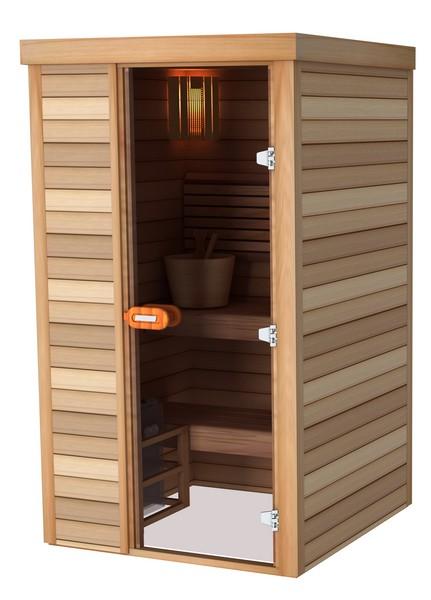 Sauna porte frontale 120×120
