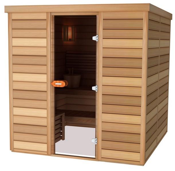 Sauna porte frontale 150×150