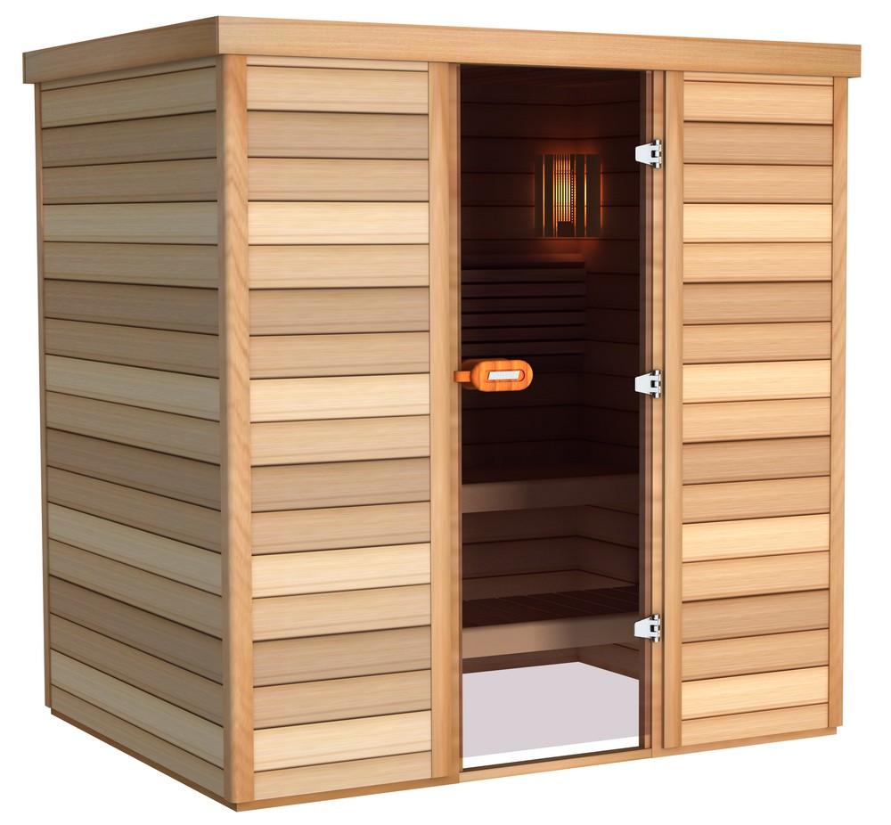 Sauna porte frontale 200×150