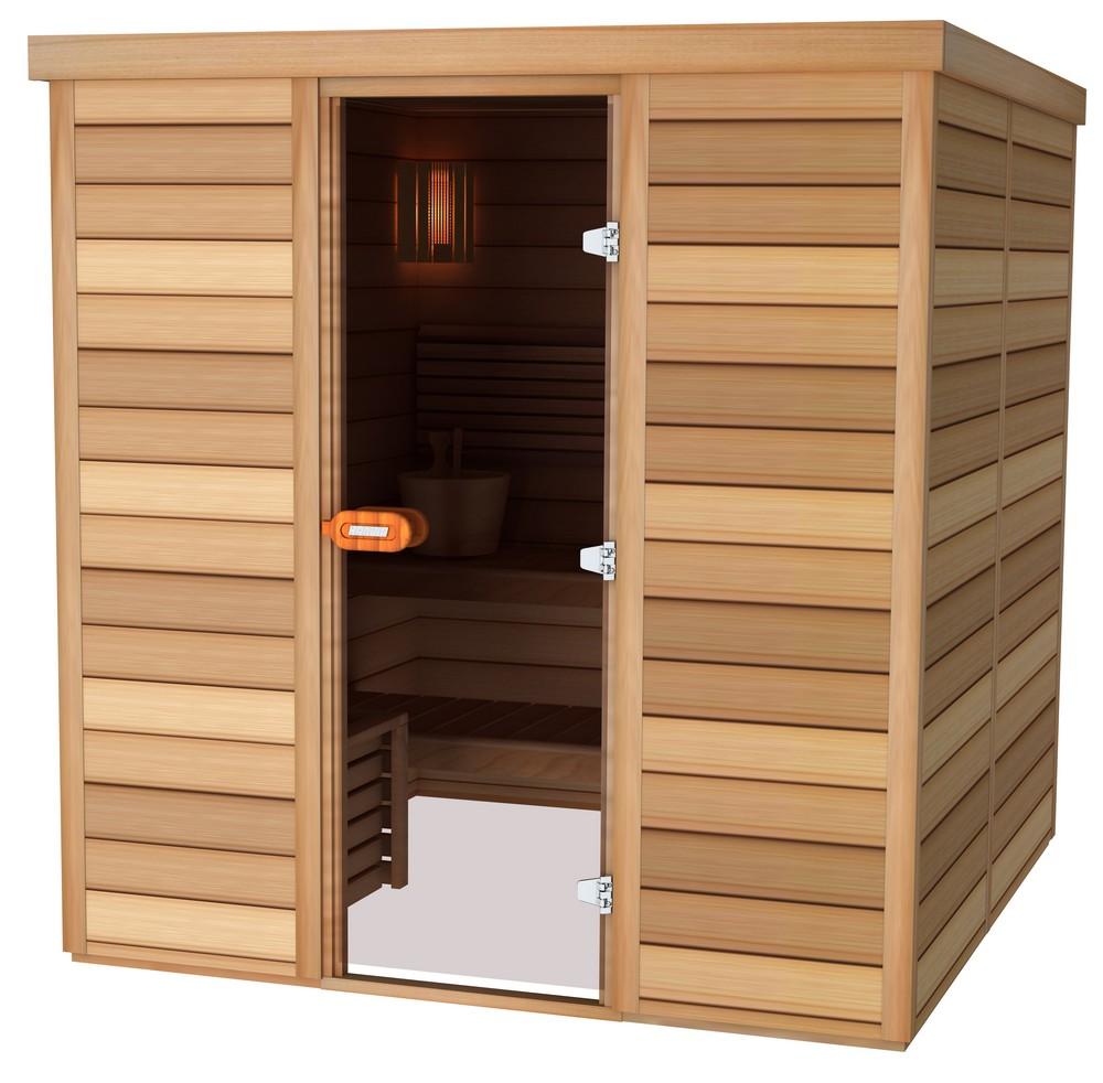 Sauna porte frontale 200×200
