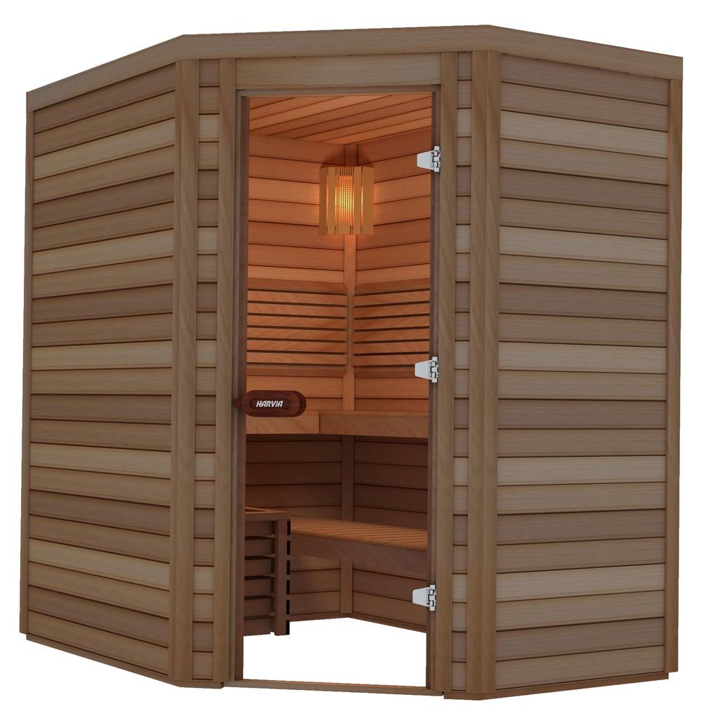 Sauna porte en coin 200×150