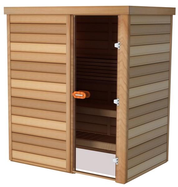 Sauna porte frontale 180×120