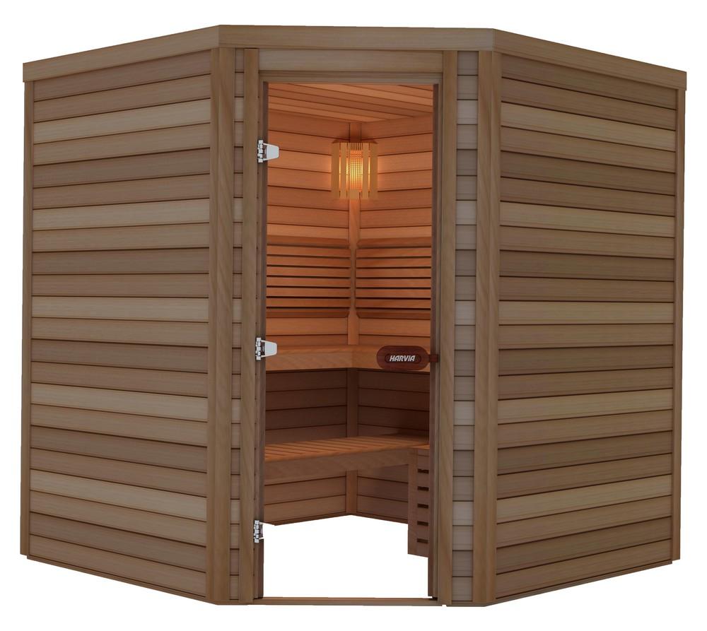 Sauna porte en coin 200×200